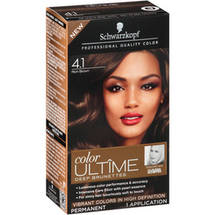 Schwarzkopf Color Ultime Deep Brunettes Hair Coloring Kit 4.1 Rich Brown