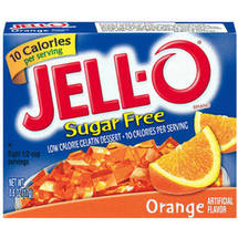 Jell-O Sugar Free Low Calorie Orange Gelatin Dessert