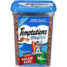 Temptations MixUps Surfer's Delight Tuna/Shrimp/Salmon Flavors Treats for Cats