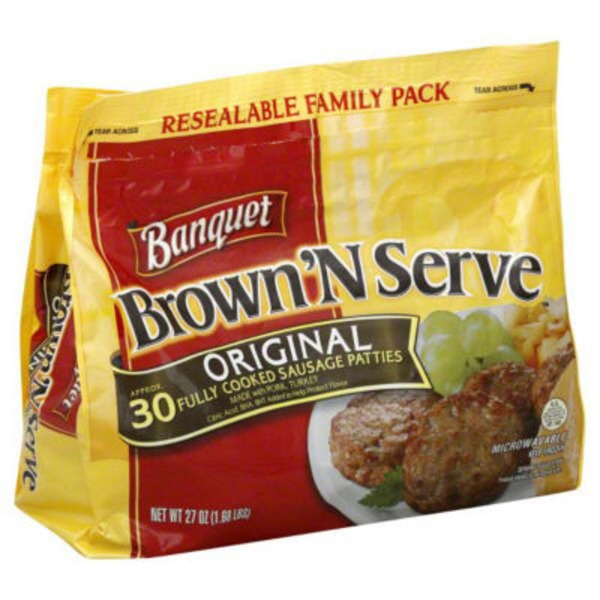 Banquet Brown 'N Serve Original Sausage Patties
