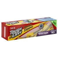 H-E-B Tough & Easy Double Zipper Storage Bags