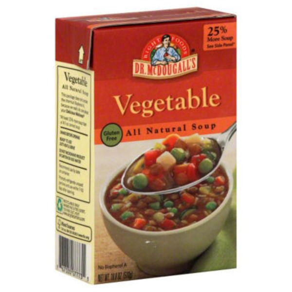 Dr. McDougall's Right Foods Gluten Free All Natural Soup Vegetable