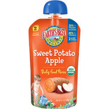 Earth's Best Second Foods Sweet Potato Apple Baby Food Puree