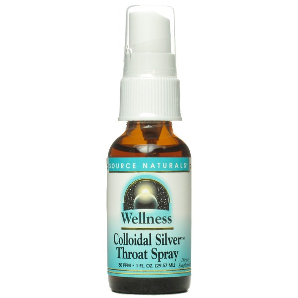 Source Naturals Wellness Colloidal Silver Throat Spray 30 Ppm