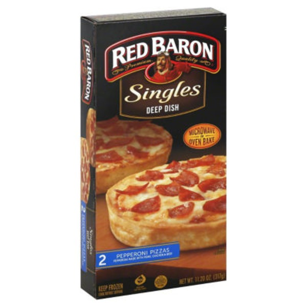 Red Baron Singles Deep Dish Pepperoni Pizza