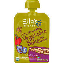 Ella's Kitchen Very Very Tasty Vegetable Bake with Lentils Stage 2 Baby Food