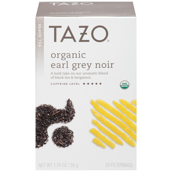 Tazo Tea Black Tea Organic Earl Grey Noir Tea Bags