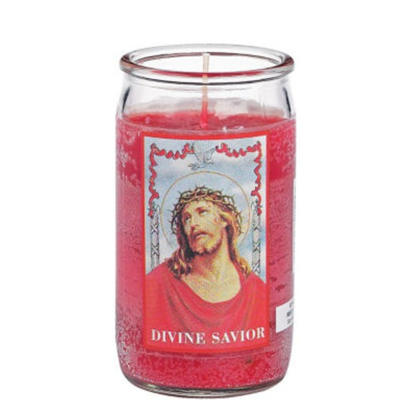 Reed Candle Company The Original Prayer Candle Divine Savior Red Wax