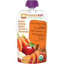 Happy Baby Happy Tot Organic Sweet Potato Apple Carrot & Cinnamon