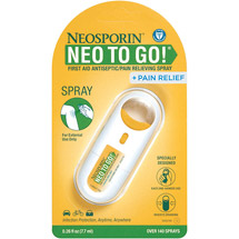 Neosporin + Pain Relief Neo To Go! First Aid Antiseptic Pain Relieving Spray