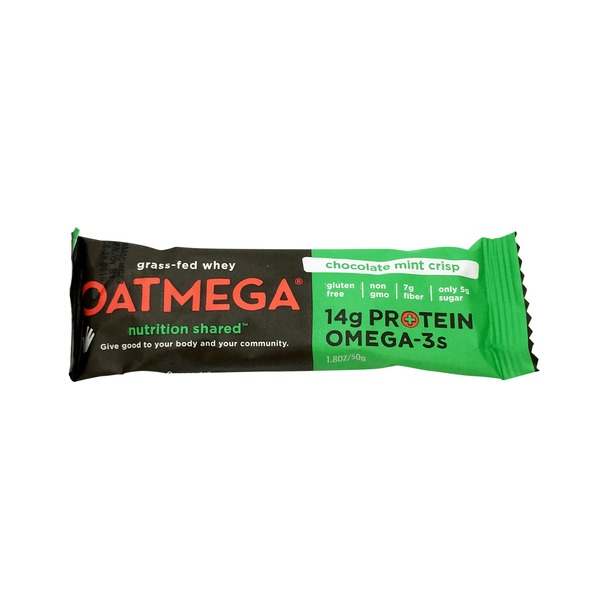 Oatmega Grass-Fed Whey Bars Chocolate Mint Crisp