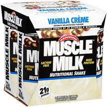 Genuine Muscle Milk Nutritional Vanilla Creme Shake 4 Ct/44 FL Oz