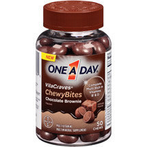 One a Day VitaCraves Chocolate Brownie Chewy Bites Multivitamin/Multimineral Chews