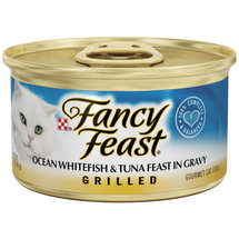 Fancy Feast Grilled Ocean Whitefish & Tuna Feast Cat Food In Gravy