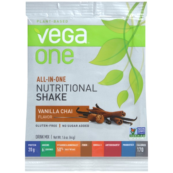 Vega One Plant-Based Natural Nutritional Shake Drink Mix