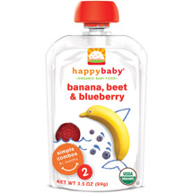Happy Family Happy Baby Simple Combos Stage 2 Organic Banana Beet & Blueberry