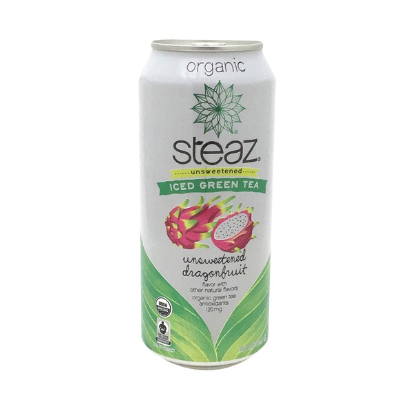 Steaz Unsweetened Organic Dragonfruit Iced Green Tea