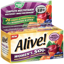 Alive! Once Daily Women's 50 Multivitamin/Multimineral