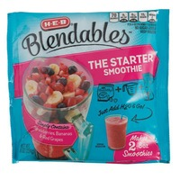 H-E-B BlendablesStrawberries, Bananas & Red Grapes Starter Smoothie