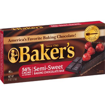 Kraft Baker's Semi-Sweet Baking Chocolate Bar