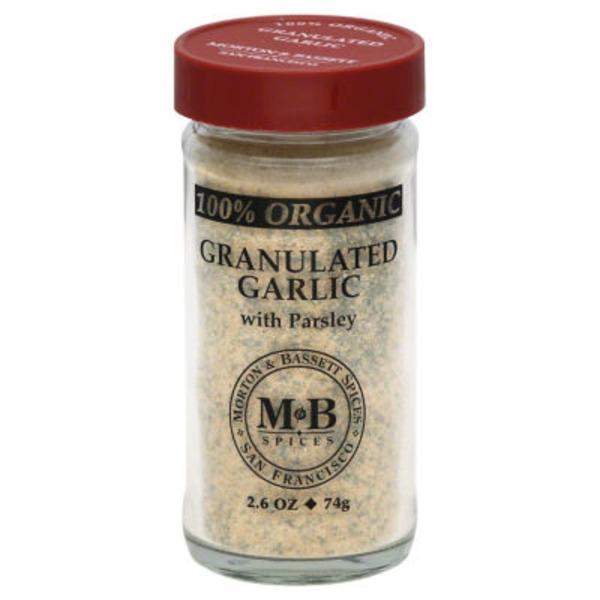 Morton & Bassett Spices Organic Granulated Garlic with Parsley