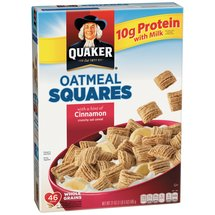 Quaker Oatmeal Squares Cinnamon Cereal