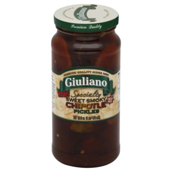 San Giualiano Specialty Sweet Smoky Chipotle Pickles