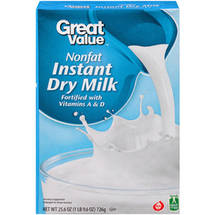 Great Value Nonfat Instant Dry Milk