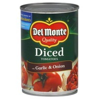 Del Monte Diced with Garlic & Onion Tomatoes