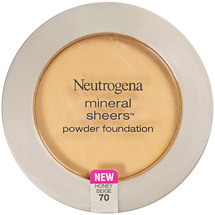 Neutrogena Mineral Sheers Compact Powder Foundation SPF20 .34 oz Honey Beige 70
