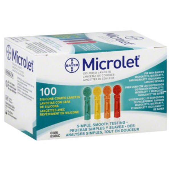 Bayer Microlet Multi-Colored Lancets