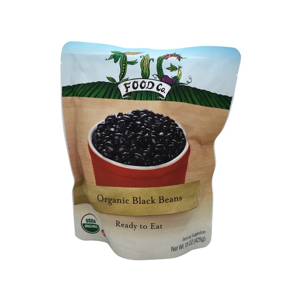 Fig Food Co. Organic Black Beans Ready To Eat In Pouch
