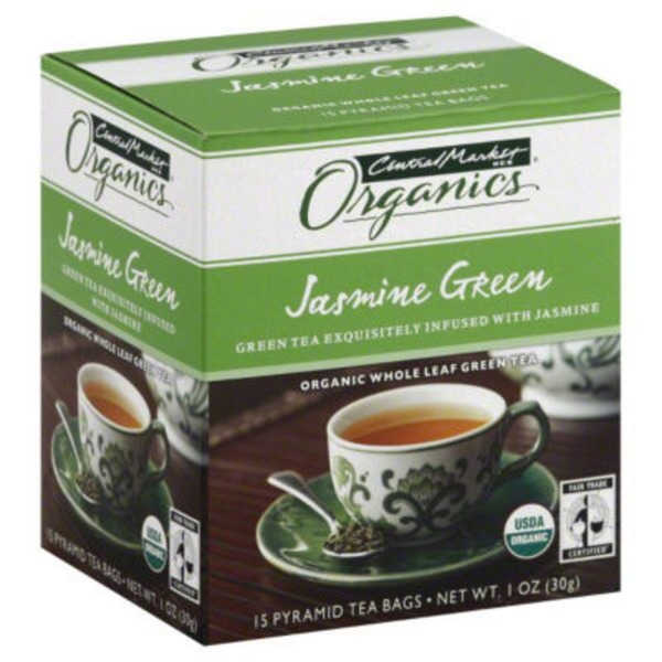 Central Market Organics Jasmine Green Tea Bags 15 Count