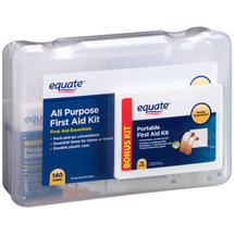 Equate All Purpose First Aid Kit with Bonus Portable First Aid Kit