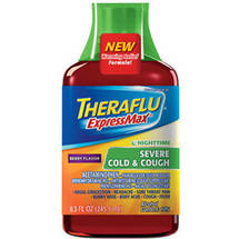 Theraflu ExpressMax Nighttime Severe Cold & Cough Berry Flavor Syrup