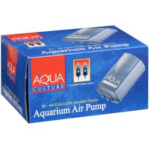 Aqua Culture: 20-60 Gallon Double Outlet Aquarium Air Pump