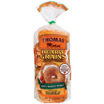 Thomas' Hearty Grains Pre-Sliced 100% Whole Wheat Bagels