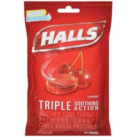 Halls Cherry Menthol Drops Cough Suppressant/Oral Anesthetic