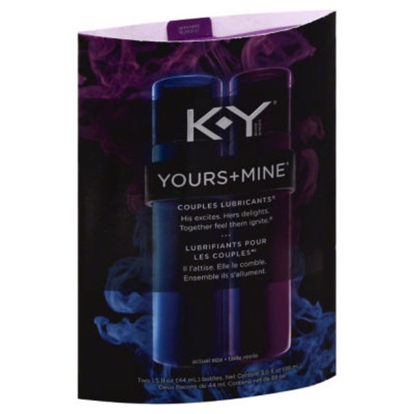 K-Y Yours & Mine Couples Lubricants Personal Lubricant