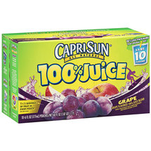 CapriSun Grape Tide 100% Juice Pouch 6 oz
