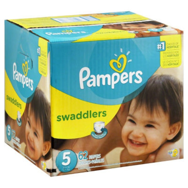 Pampers Swadlers Pampers Swaddlers Diapers Size 5 62 count Diapers