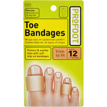 PROFOOT Toe Bandages 4 lengths