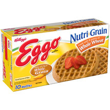 Kelloggs Nutri-Grain Whole Wheat Waffles