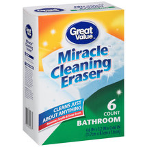 Great Value Bathroom Miracle Cleaning Eraser Sponges
