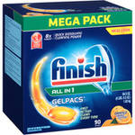 Finish Gelpacs Orange Grease Cutting Scent Automatic Dishwasher Detergent