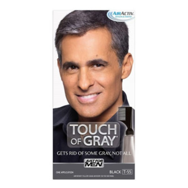 Just For Men Touch of Gray Hair Color Application Kit Black T-55