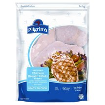 Pilgrim's Pride Chicken Breast Fillets Boneless Skinless w/Rib Meat Poultry