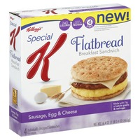Kellogg's Special K Flatbread Sausage Egg & Cheese Breakfast Sandwiches