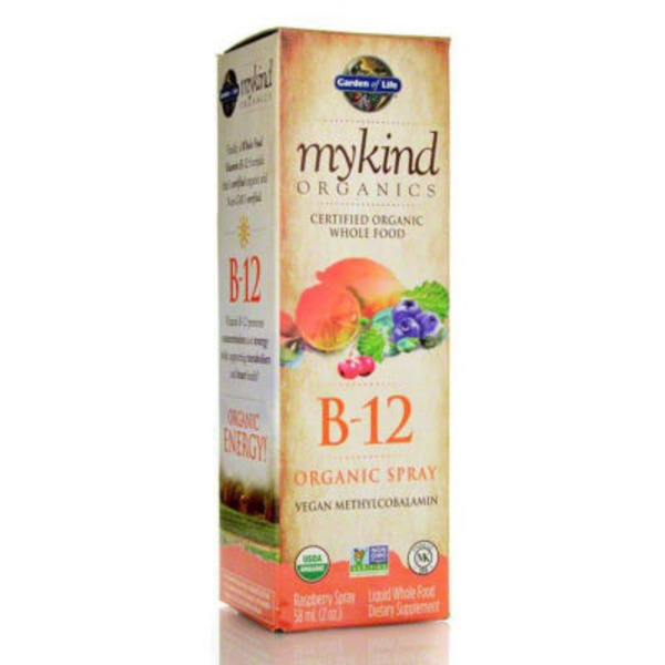 Garden of Life Organic Raspberry Flavor B-12 Spray