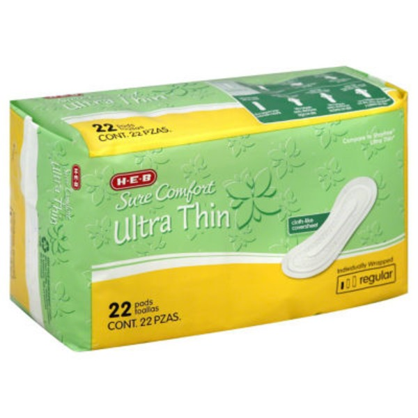 H-E-B Sure Comfort Ultra Thin Regular Pads